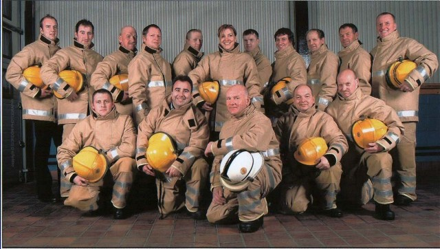 Invergordon Fire station crew 2005