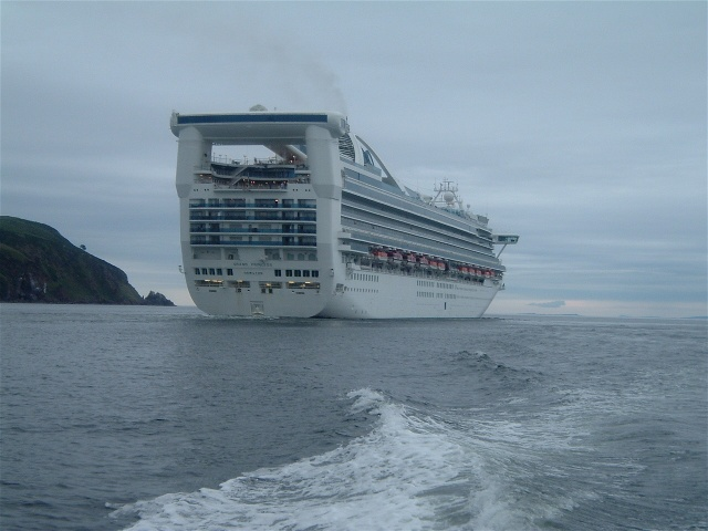 Grand Princess leaving the Firth on July 12th