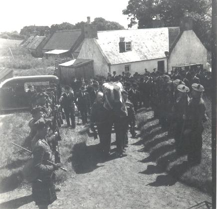 Sgt Kenny Ross's funeral 1940 at Invergordon