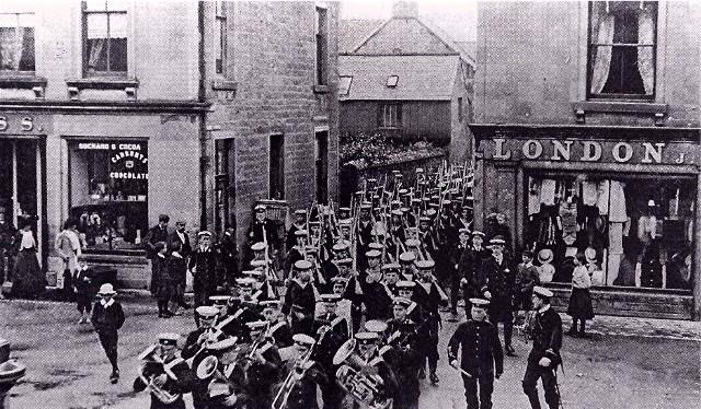 A naval parade in Invergordon