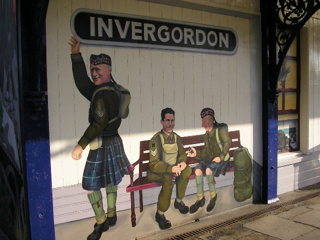 Invergordon Railway Station Mural