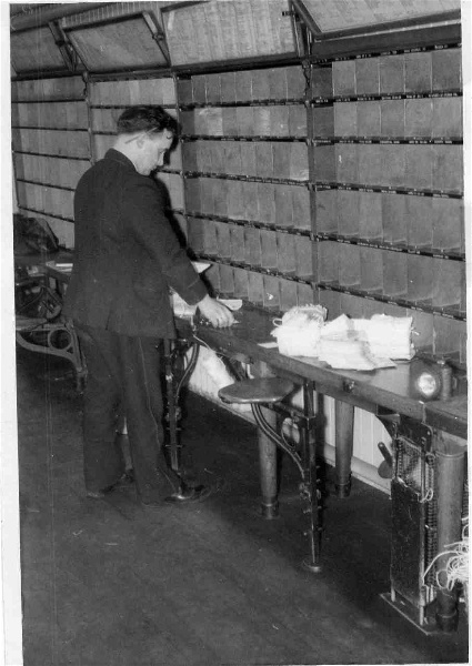 Working in the Mail Sorting Office