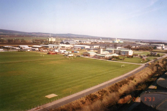 The view North-East across the Academy and beyond