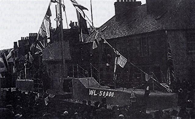Submarine in Invergordon High Street