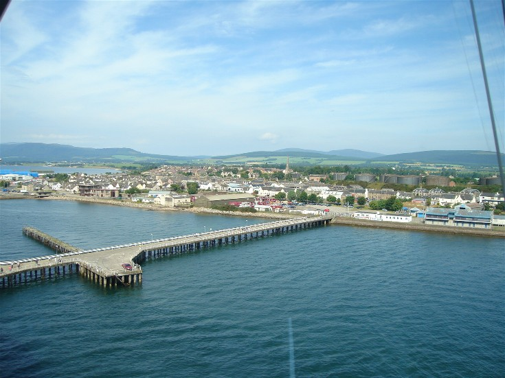 Invergordon from the Port looking north west