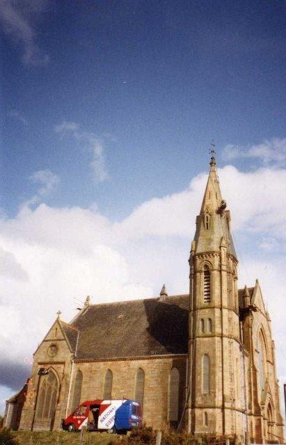 Steeplejacks at Rosskeen Free Church