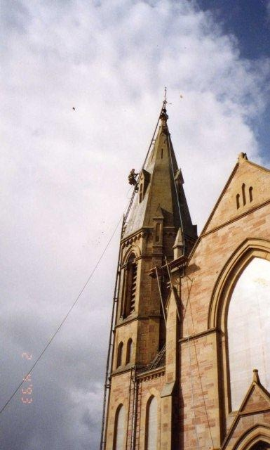 Steeplejacks at Rosskeen Free Church