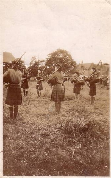 The Pipe Band at Beauly Camp