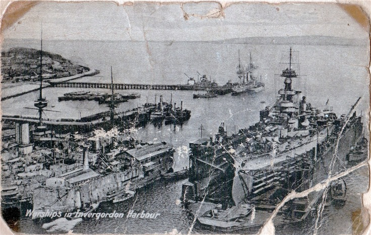 Warships at Invergordon Harbour