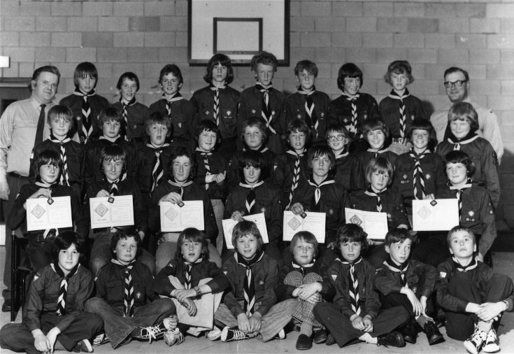 Invergordon Scouts - Presentation of Scout Awards: 4th June 1976