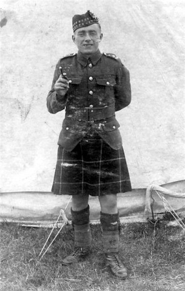 Willie Geddes at the Seaforth Territorial Camp
