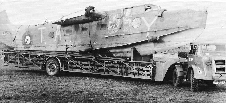 Transport of a damaged Supermarine Stranraer