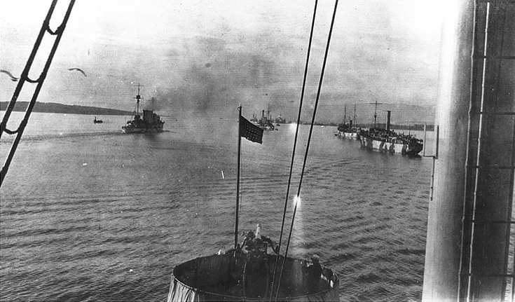 Northern Barrage - US Minelayers and a British Cruiser in the Cromarty Firth