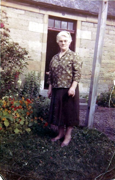My Grandmother outside Ness Cottage
