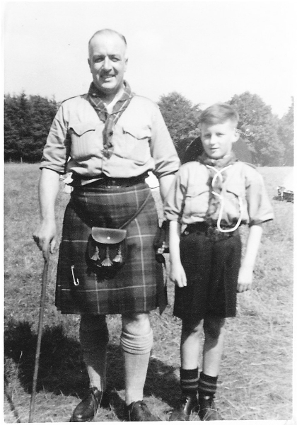 Sergeant MacPhail and Ian at Scout Camp