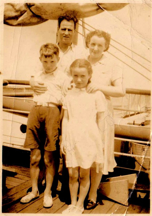 Hogg family immigrating to Australia