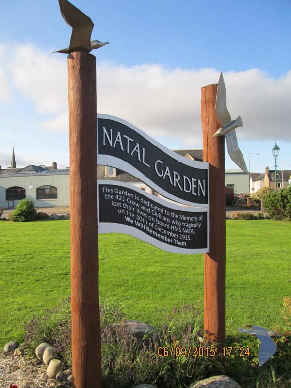 New sign at Natal Garden