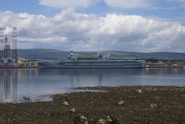 HMS Queen Elizabeth at Invergordon
