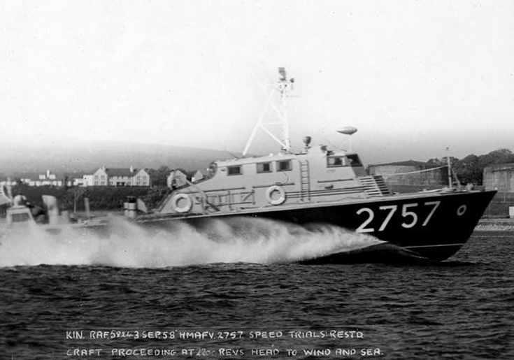 Undergoing Speed Trials off Invergordon