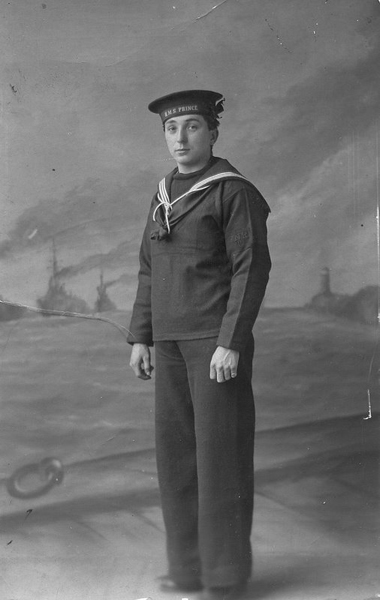 Angus Martin at Invergordon while on HMS Prince