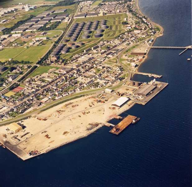 Aerial view of Invergordon looking East