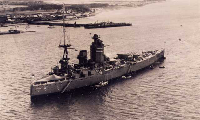 HMS Nelson at Invergordon in 1934.