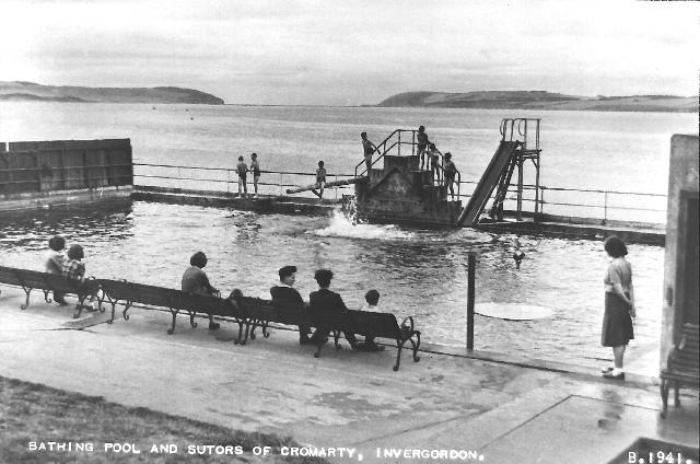 Bathing Pool and Sutors of Cromarty, Invergordon