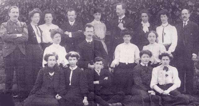 Invergordon Academy Staff, 1908.