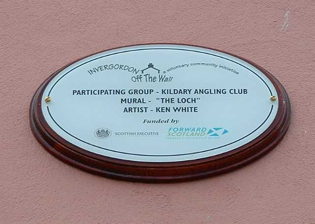 Plaque for first Invergordon Mural