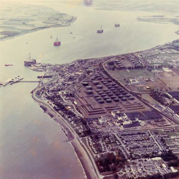 Invergordon and the Cromarty Firth from the air