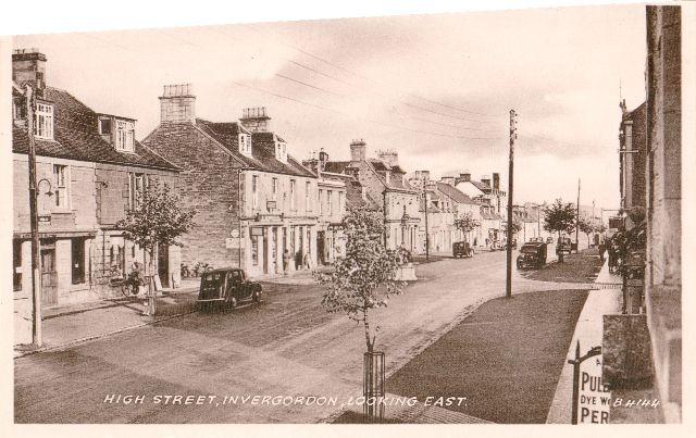 High Street, Invergordon, Looking East