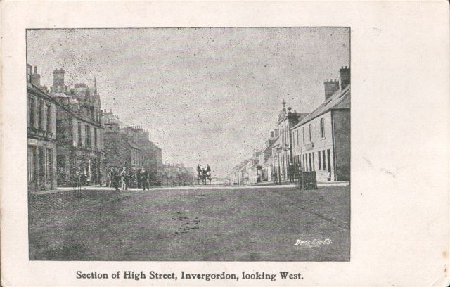 Section of High Street, Invergordon, looking West