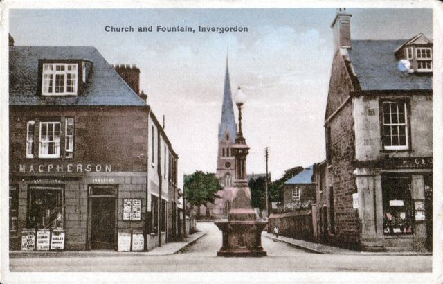 Church and Fountain, Invergordon