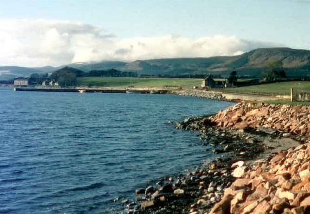 Fyrish Hill and Ben Wyvis from Invergordon
