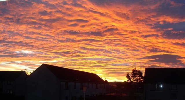 Sunrise over Invergordon