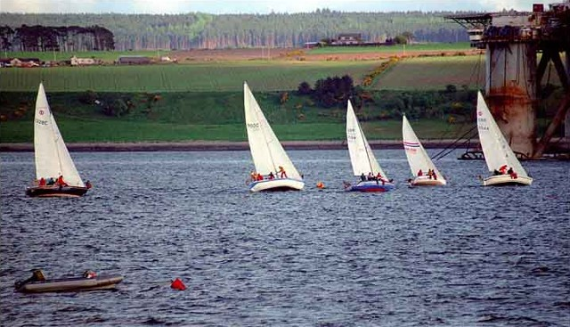 Yachts racing in the Firth