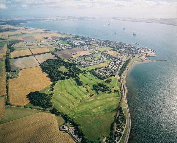 Aerial view of Invergordon and the Cromarty Firth