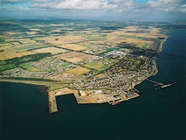 Aerial view of Invergordon