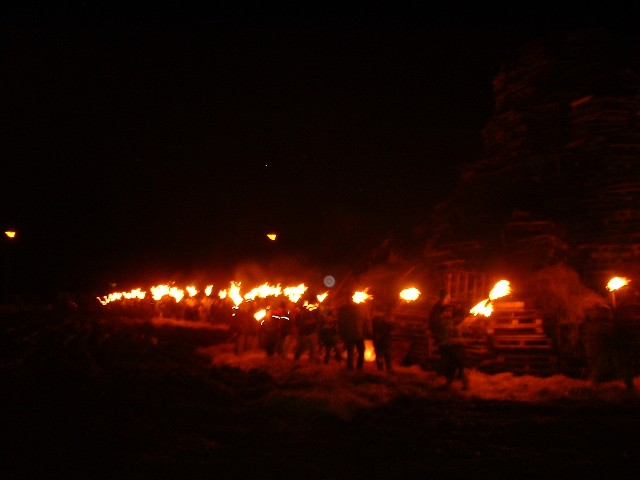 Torchlight Procession to the Bonfire