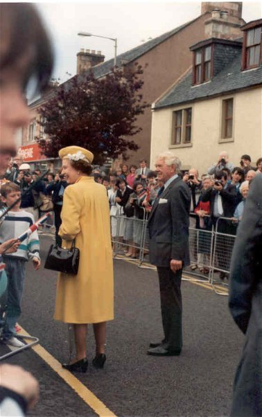 Her Majesty The Queen visits Invergordon