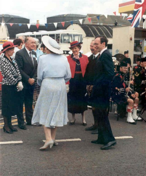 Dignitaries at The Queen's visit