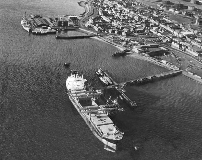 Admirality Pier and Invergordon to the West