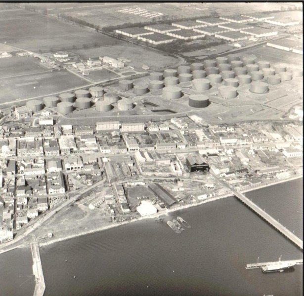 Aerial view of Invergordon looking North