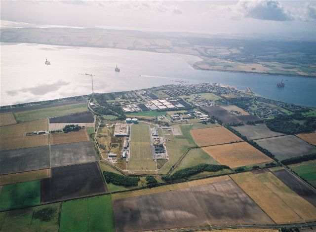 Aerial view of Invergordon looking South