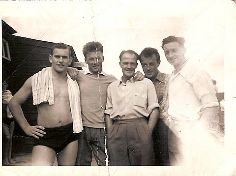 Uncle Dick, Davie Moir and friends
