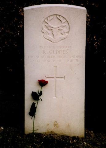 The Gravestone of Richard Geddes