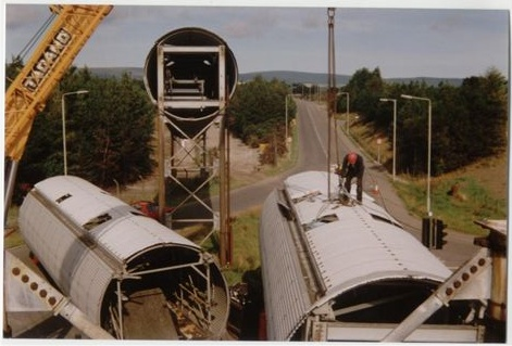 Smelter conveyor destruct works at Saltburn Jetty