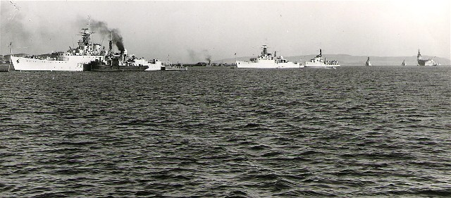 The Fleet in Invergordon in Autumn 1953