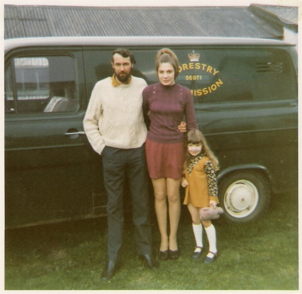Alistair McLellan with Heather Booth and daughter