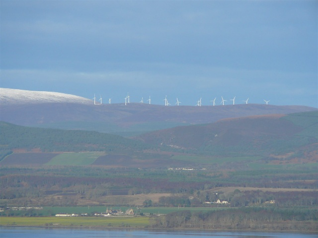 The Windfarm at Beinn Tharsuinn on the Struie